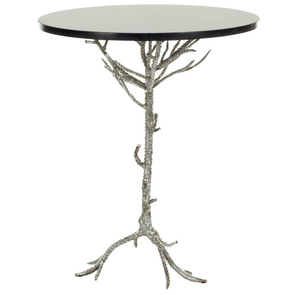 Carolyn Black and Silver End Table