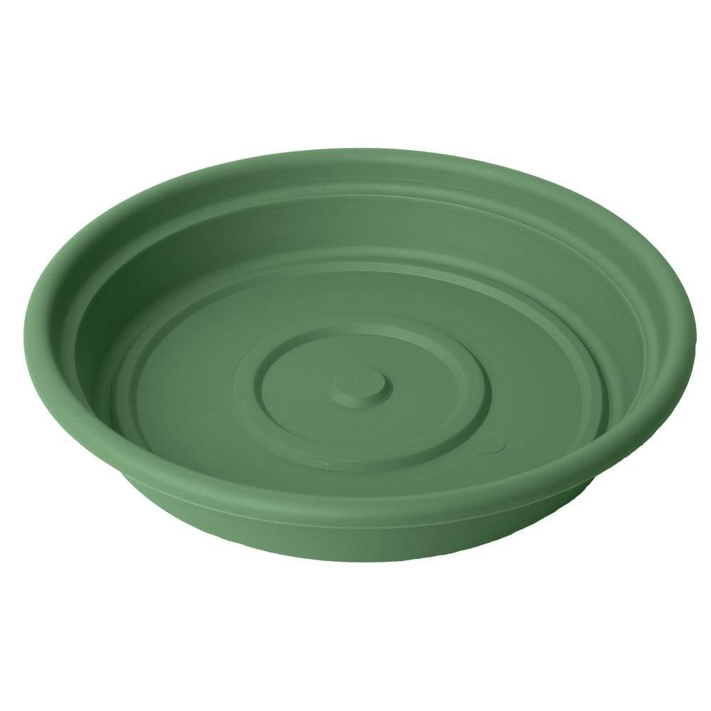 8 in. Living Green Dura Cotta Plastic Saucer