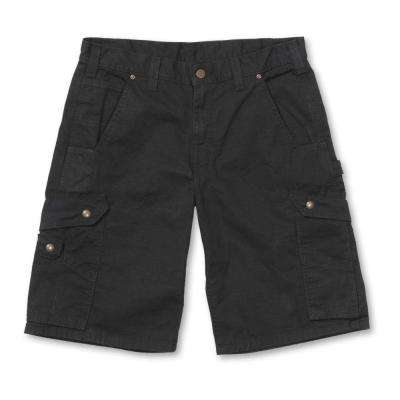 Men's Regular 38 Black Cotton  Shorts