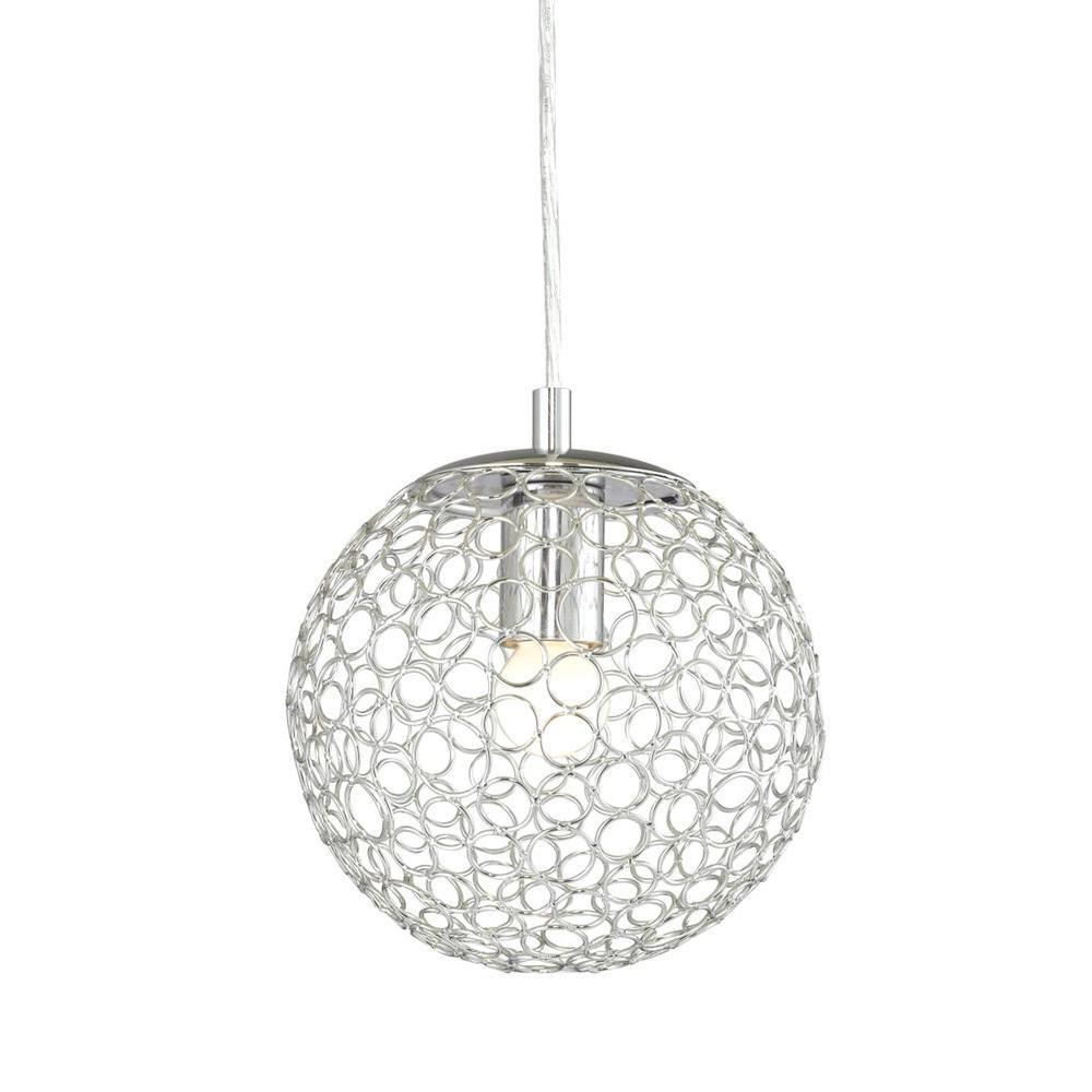 Filament Design Myth 1-Light Chrome Pendant