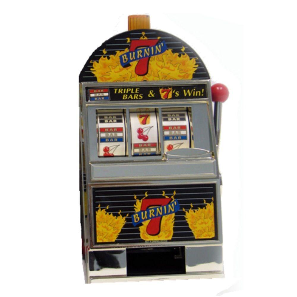 Burning 7 Slot Machine Bank