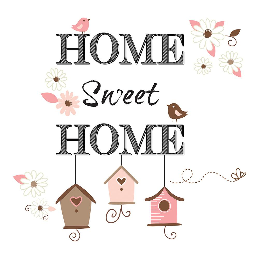 Brewster 19.7 in. x 12.2 in. Home Sweet Home Wall Decal-CR ...