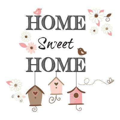 19.7 in. x 12.2 in. Home Sweet Home Wall Decal