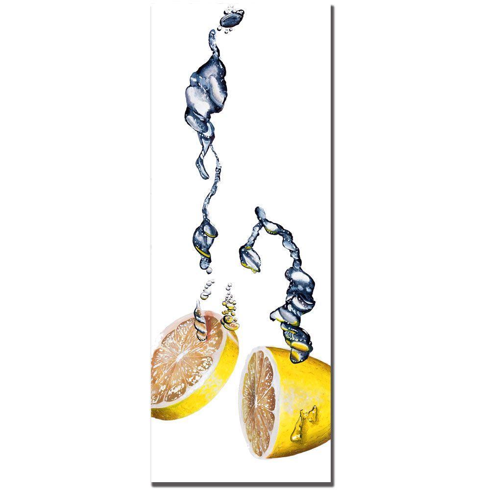 Trademark Fine Art 12 in. x 32 in. Lemon Splash II by Roderick Stevens Canvas Art