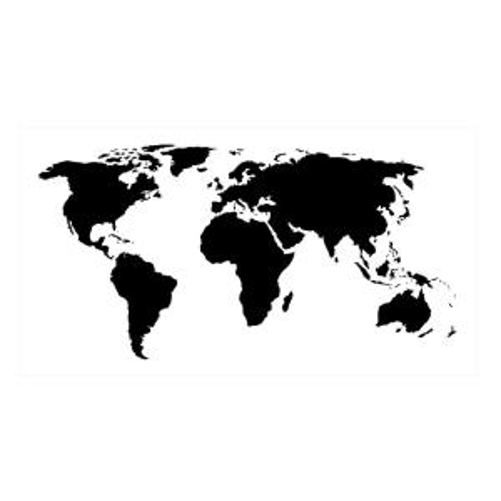Designer Stencils Small World Map Wall Stencil by Designer Stencils