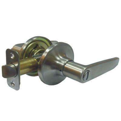 Straight Stainless Steel Privacy Bed/Bath Door Lever