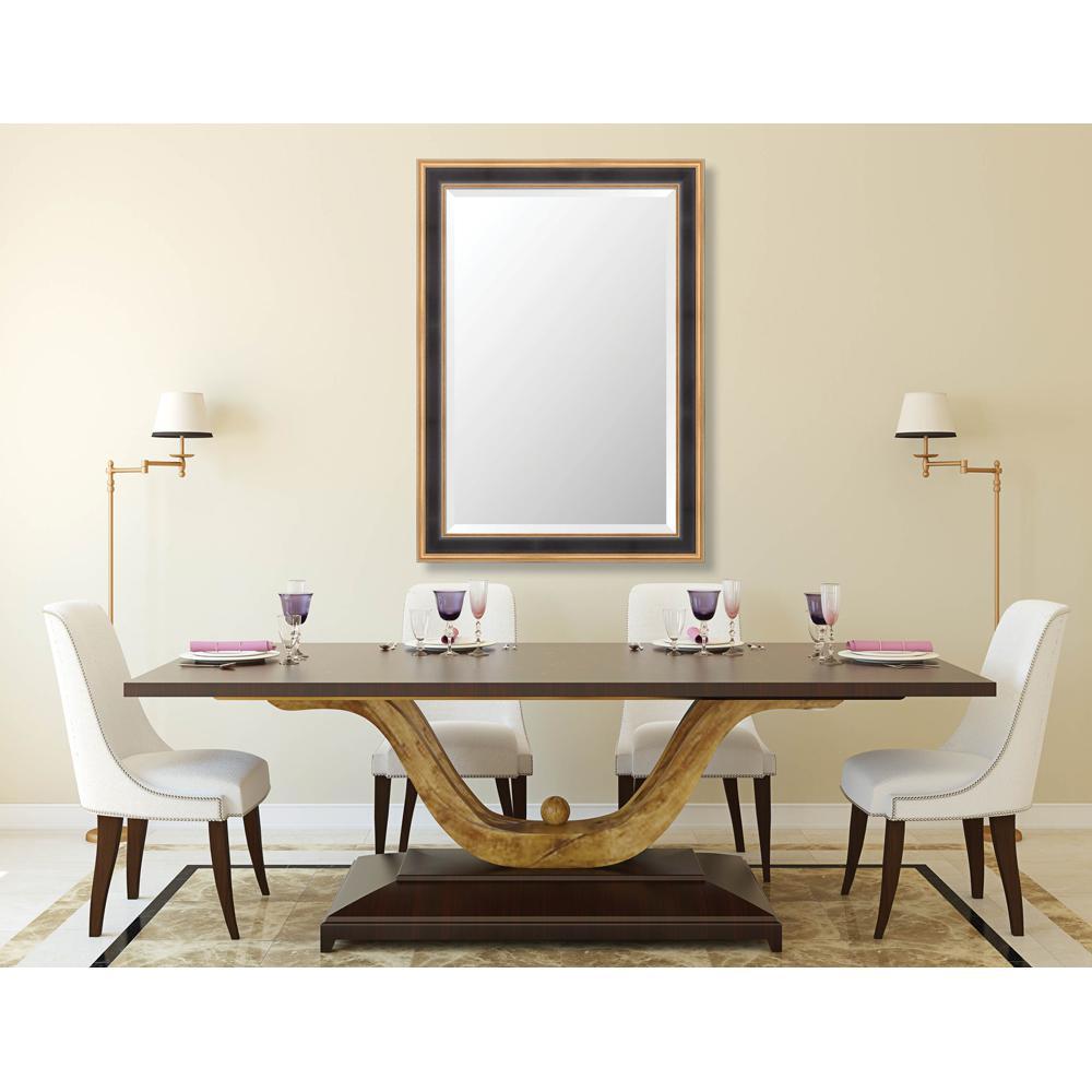 Prescott 29.625 in. x 41.625 in. Traditional Framed Bevel Mirror