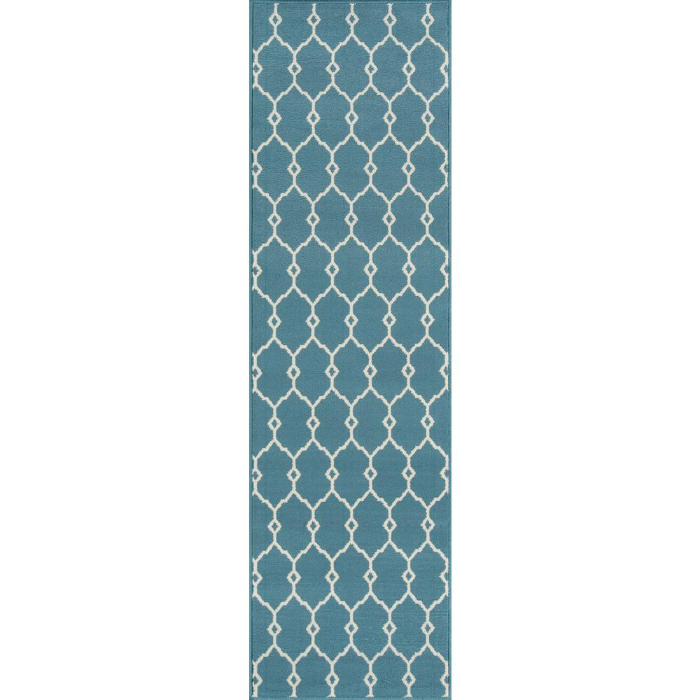 Baja Blue 2 ft. x 8 ft. Indoor/Outdoor Runner Rug