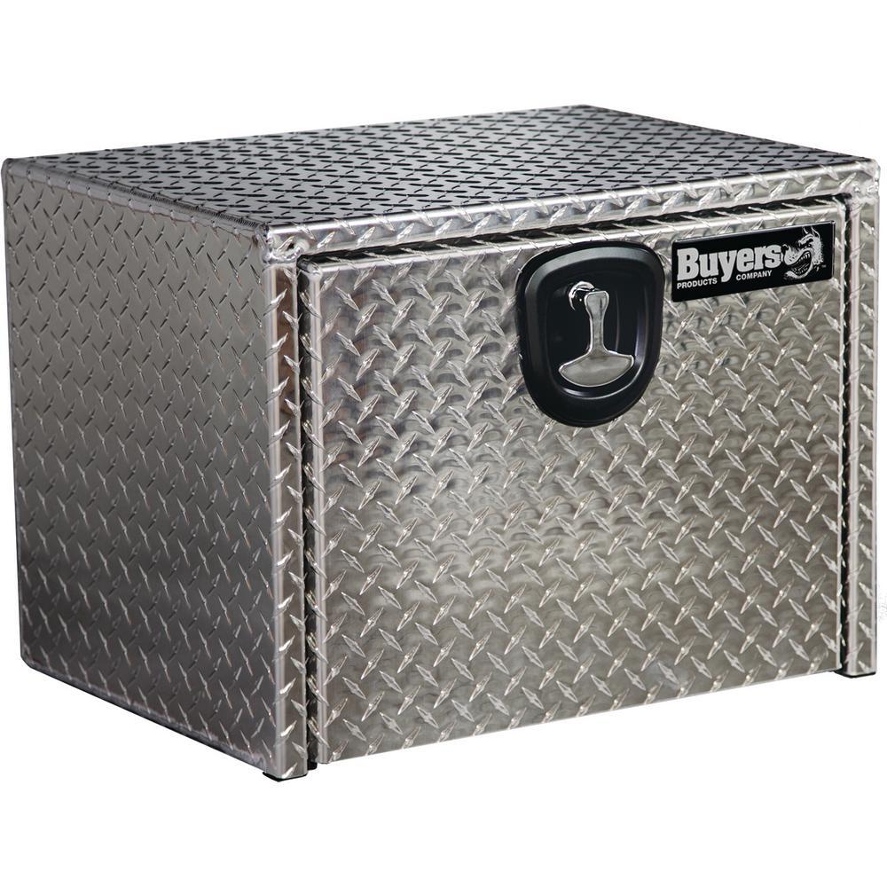 24 in. Aluminum Recessed Door Underbody Tool Box with T-Handle Latch