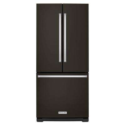 30 in. W 19.7 cu. ft. French Door Refrigerator in Black Stainless