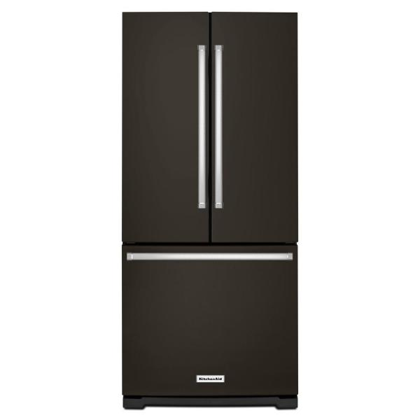 20 cu. ft. French Door Refrigerator in PrintShield Black Stainless with Interior Water Dispenser