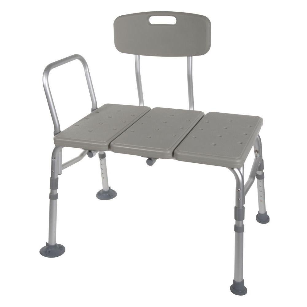 Plastic Transfer Bench with Adjustable Backrest