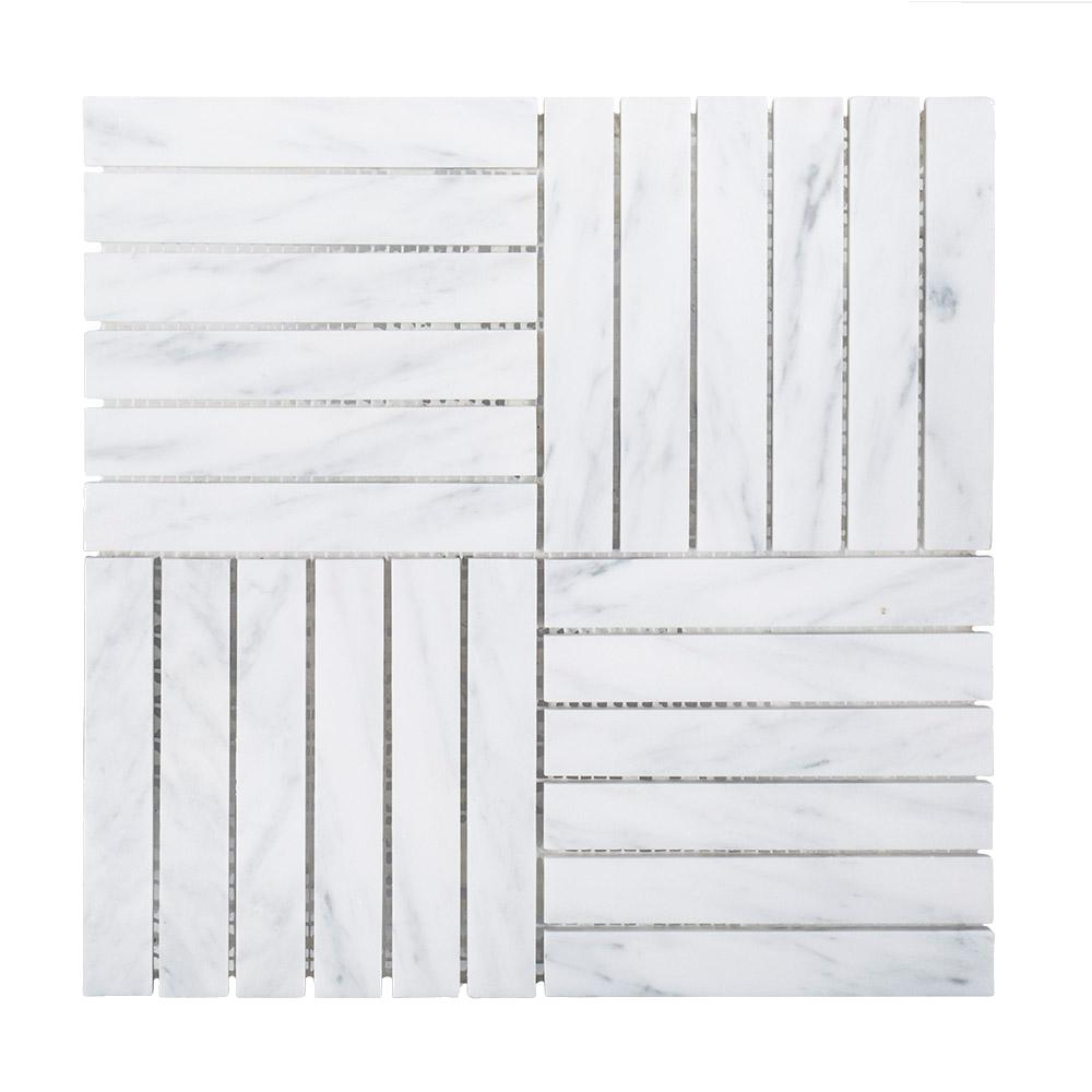 Hudson Carrara 11-7/8 in. x 11-7/8 in. x 8 mm Marble