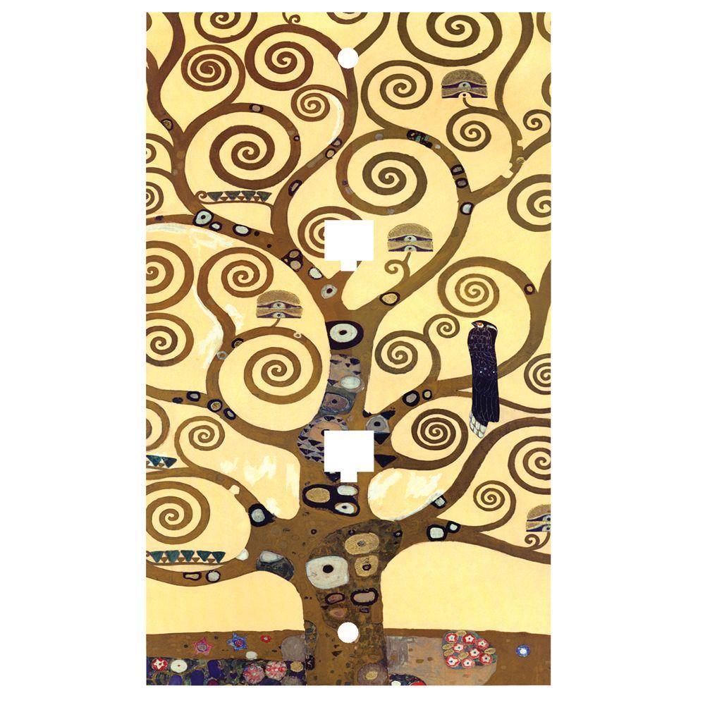Art Plates Klimt The Tree of Life 2 Phone Jack Wall Plate