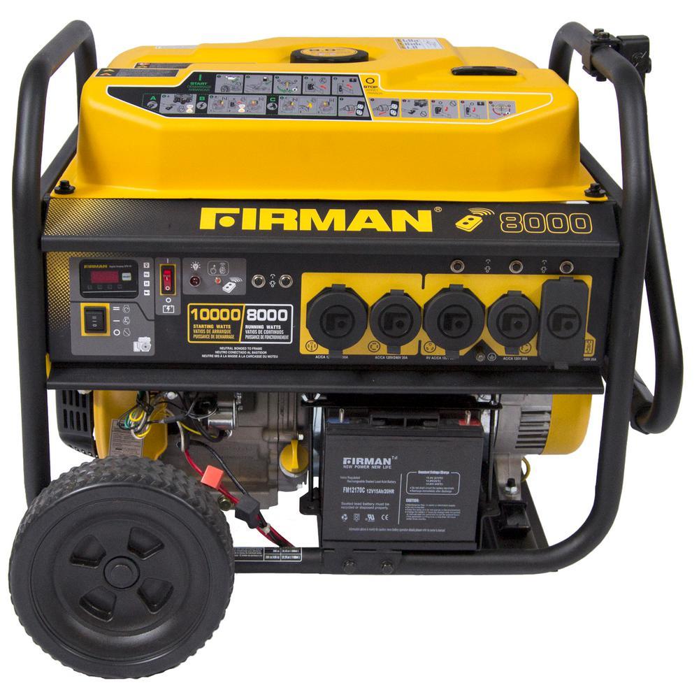 FIRMAN Power Equipment Performance 8,000-Watt Gas Powered Remote Start Portable Generator with FIRMAN Engine by FIRMAN Power Equipment