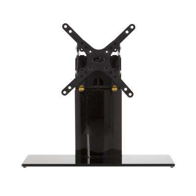 Universal Table Top TV Stand/Base Adjustable Tilt and Turn -for Most TVs up to 32 in., Black/Black
