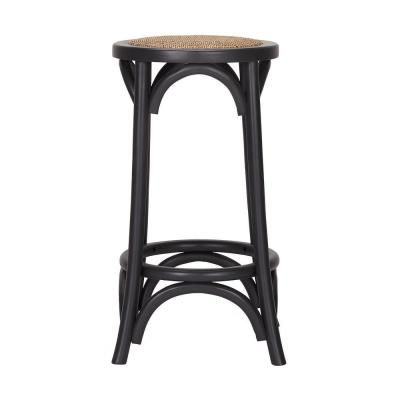Mavery Black Wood Backless Counter Stool (13.8 in. W x 26 in. H)