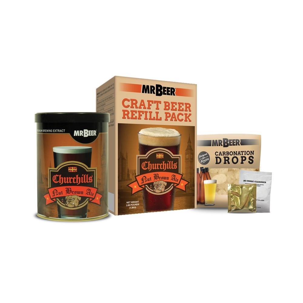 Churchill's Nut Brown Ale Refill Beer Brewing Kit