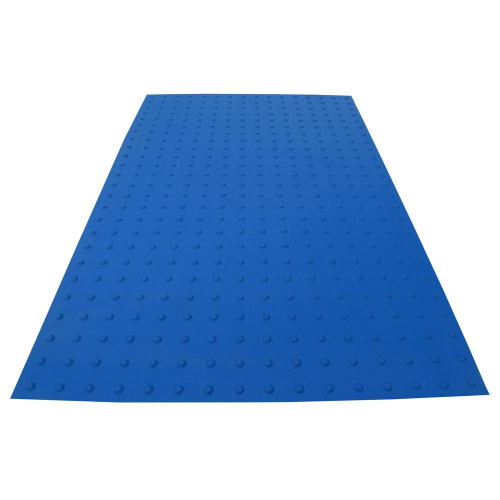 RampUp 36 in. x 5 ft. Blue ADA Warning Mat