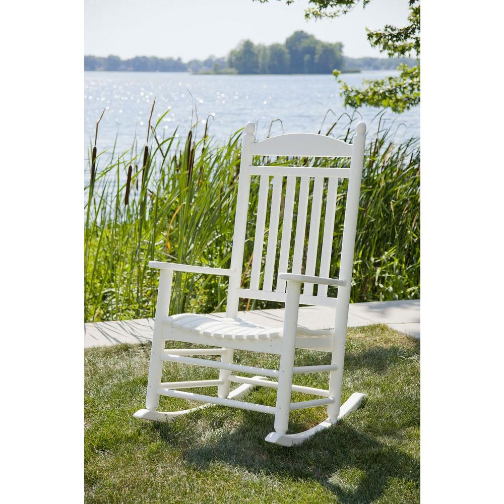 Jefferson White Patio Rocker