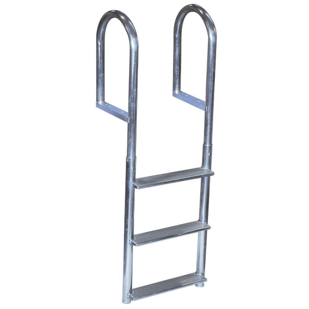 Tommy Docks 3 Step Wide Rung Aluminum Dock Ladder