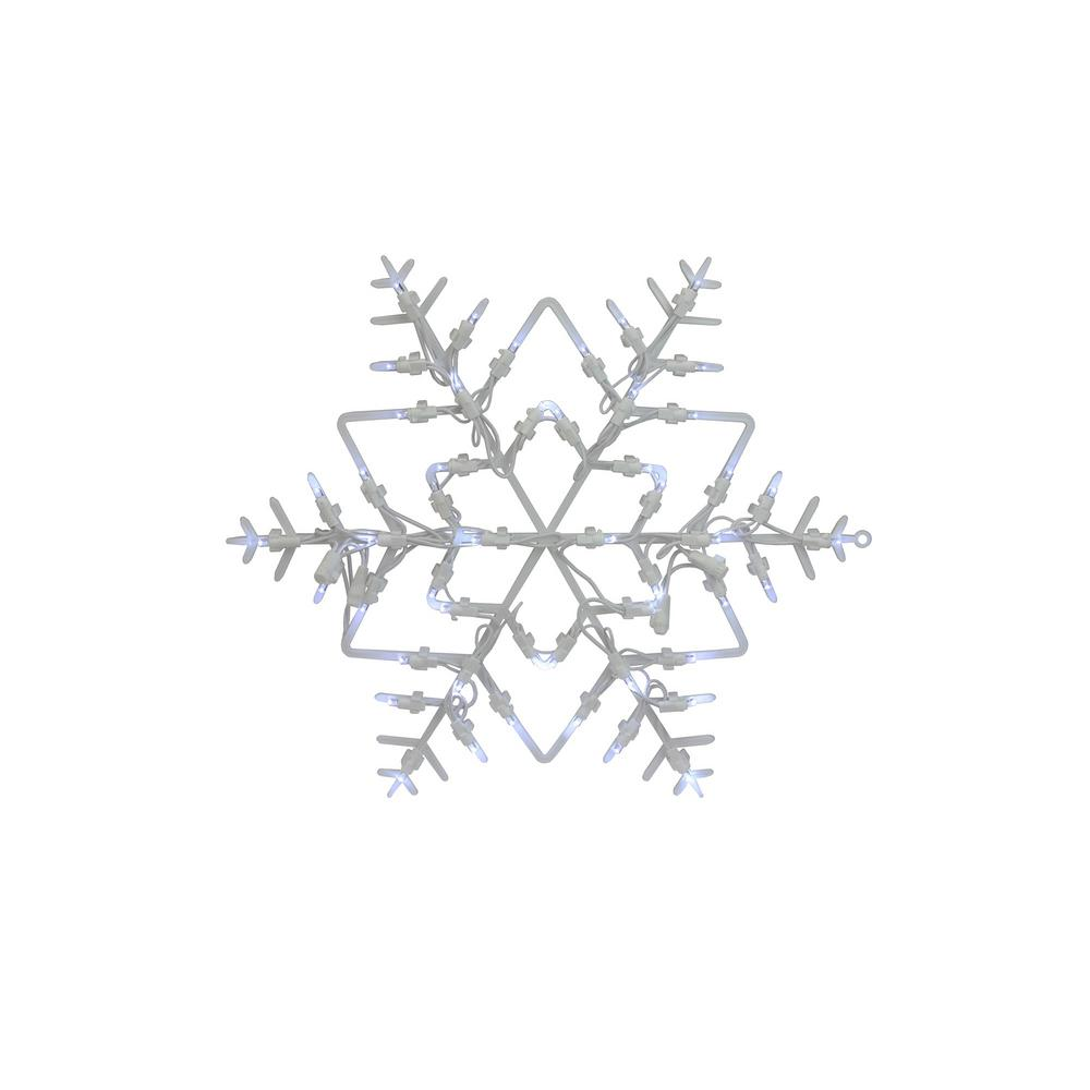 northlight 18 in  led lighted snowflake christmas window silhouette decoration  4