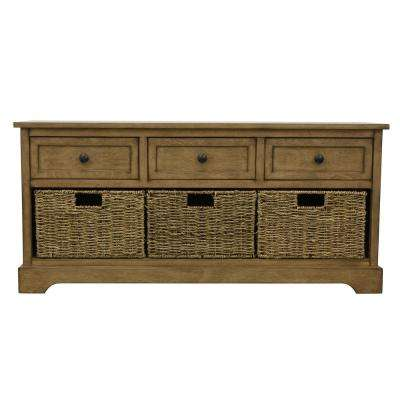 Montgomery Brown Storage Bench