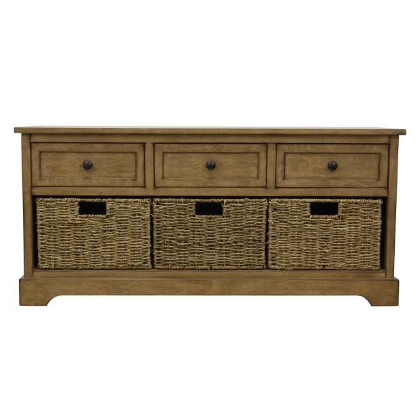 Decor Therapy Montgomery Brown Storage Bench FR8631