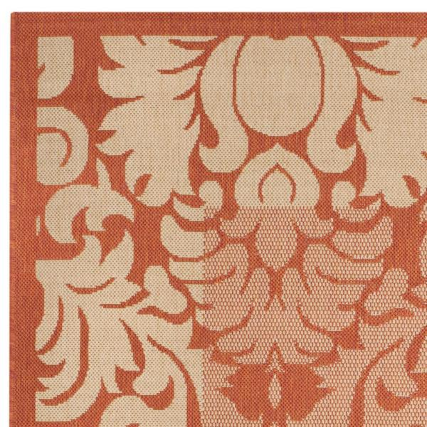 Safavieh Courtyard Terracotta Natural 8 Ft X 8 Ft Indoor Outdoor Square Area Rug Cy2727 3202 8sq The Home Depot