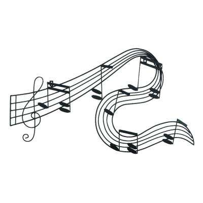 Music Notes Metal Black Wall Décor