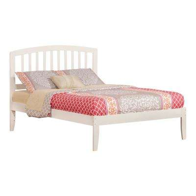 Richmond White Full Platform Bed with Open Foot Board