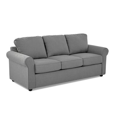Andrea 82 in. Concrete Fabric 3-Seater Queen Sleeper Sofa Bed with Round Arms