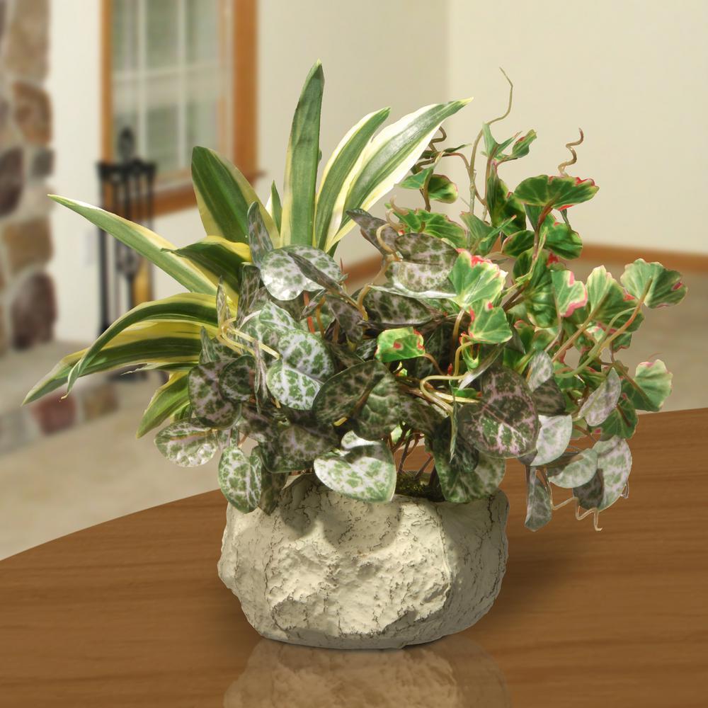 21 in. Table Plant in Ceramic Pot