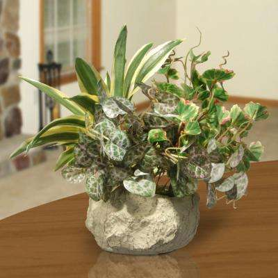 21 in. Table Plant in Ceramic Pot