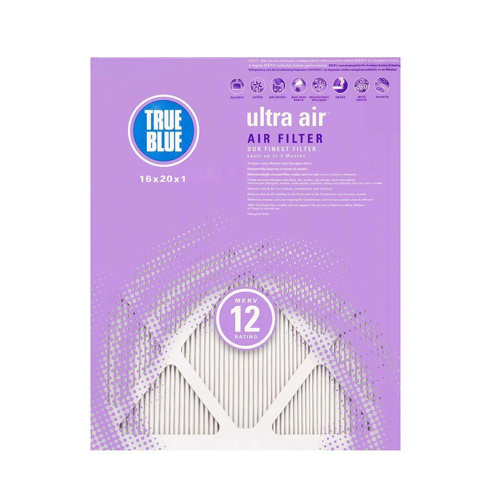 True Blue Ultra Air 12 in. x 24 in. x 1 in. Pleated Air Filter (4-Pack)