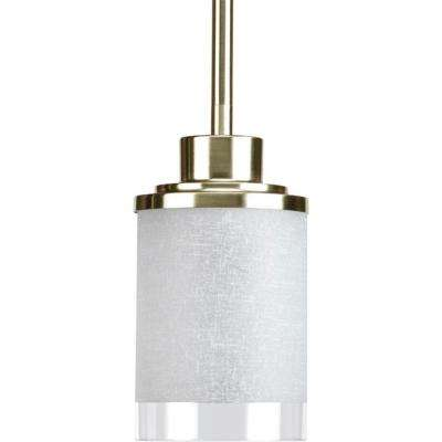 Alexa Collection 1-Light Brushed Nickel Mini Pendant