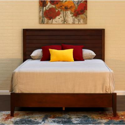 Island Mocca King Louvered Bed