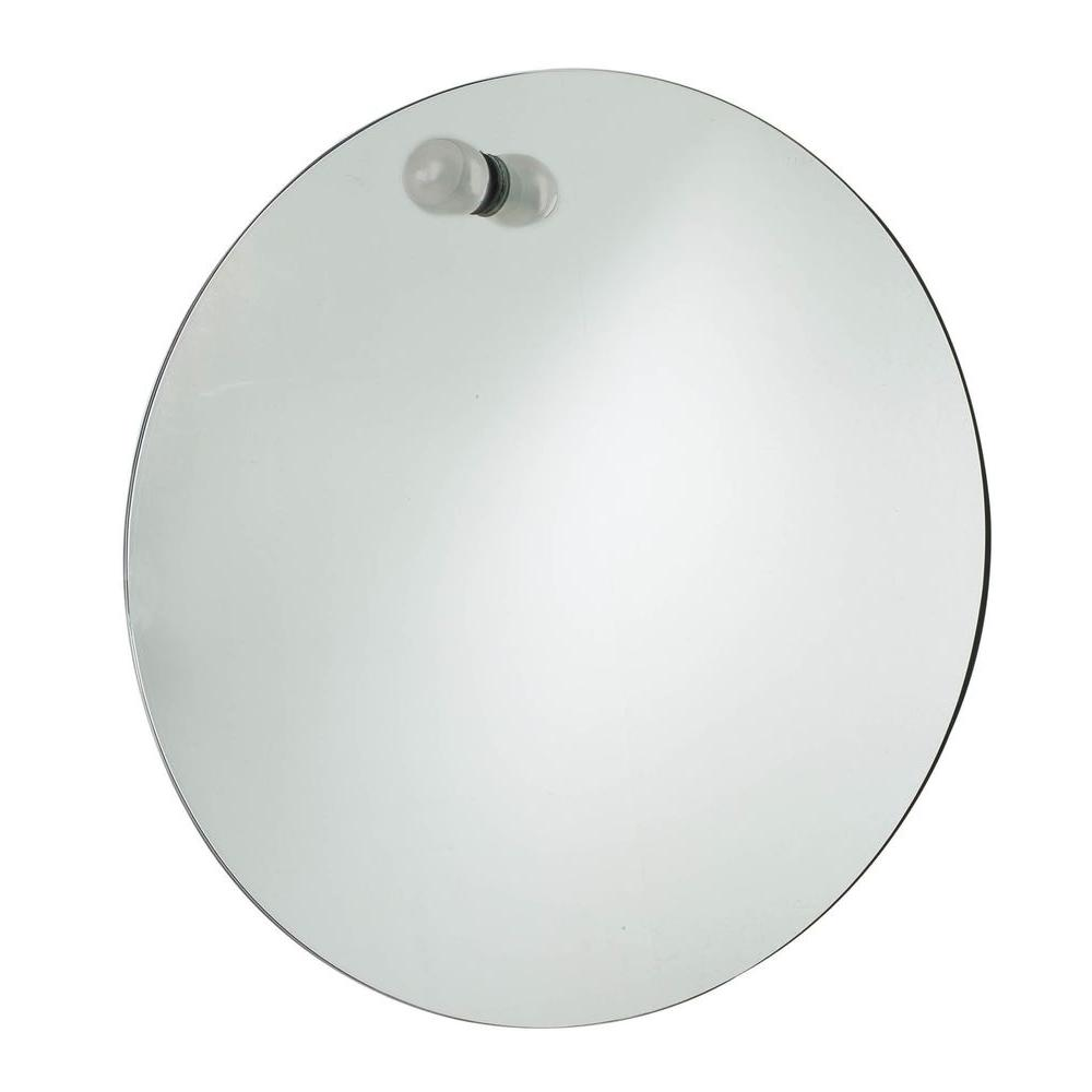 USE Nuovo Large Round Mirror, Satin Nickel-DISCONTINUED