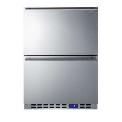 3.5 cu.ft. Frost Free Upright Outdoor Drawer Freezer In Stainless Steel