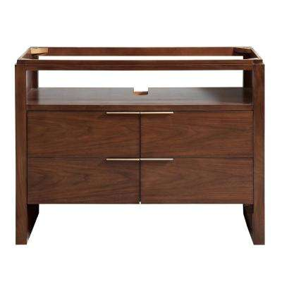 Giselle 43 in. W x 22 in. D x 32 in. H Vanity Cabinet Only in Natural Walnut