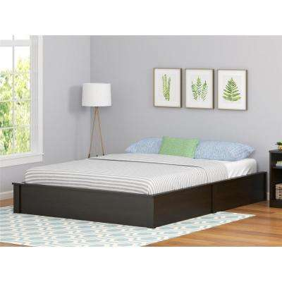 Platform Black Oak Full Bed Frame
