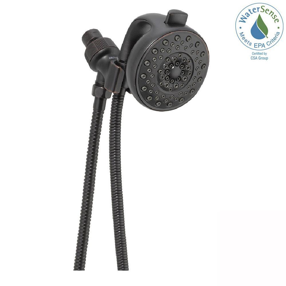 Palm 4-Spray Handheld Showerhead with Pause in Venetian Bronze