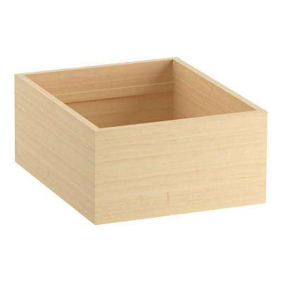 18 in. Rollout Drawer for 30 in. Tailored Vanities with 1 Door, 3 Drawers in Natural Maple