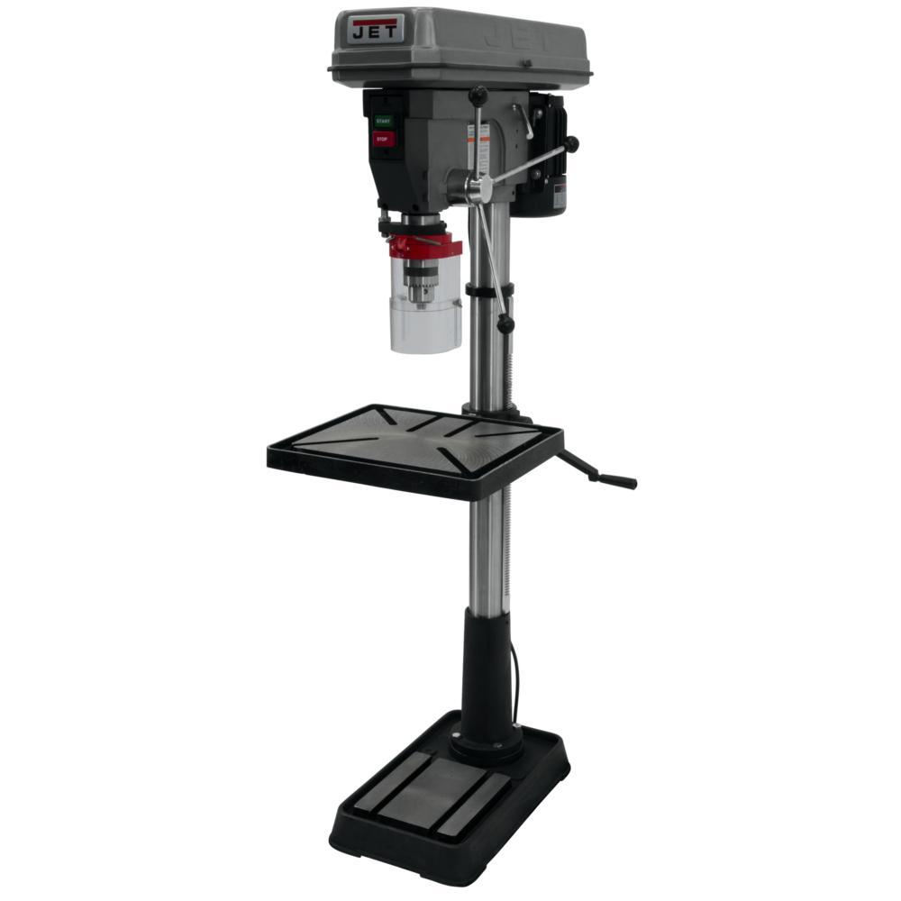 JET 1.5 HP 20 inch Floor Standing Drill Press with Worklight, 12-Speed, 115/230-Volt, JDP-20MF by JET