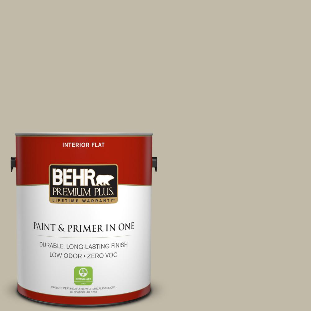 BEHR Premium Plus Home Decorators Collection 1-gal. #HDC-FL13-10 Wilderness Gray Flat Interior Paint
