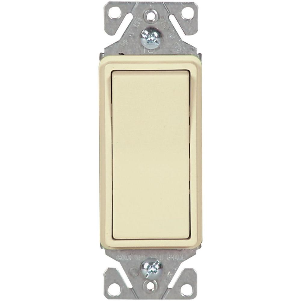 3 Way Light Switches Wiring Devices Controls The Home Single Switch 15 Amp 120 Volt 277 Heavy Duty Grade Pole