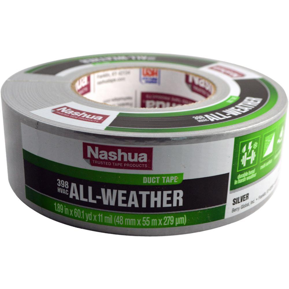 Nashua Tape 1 89 in  x 50 yd  322 Multi-Purpose HVAC Foil Tape