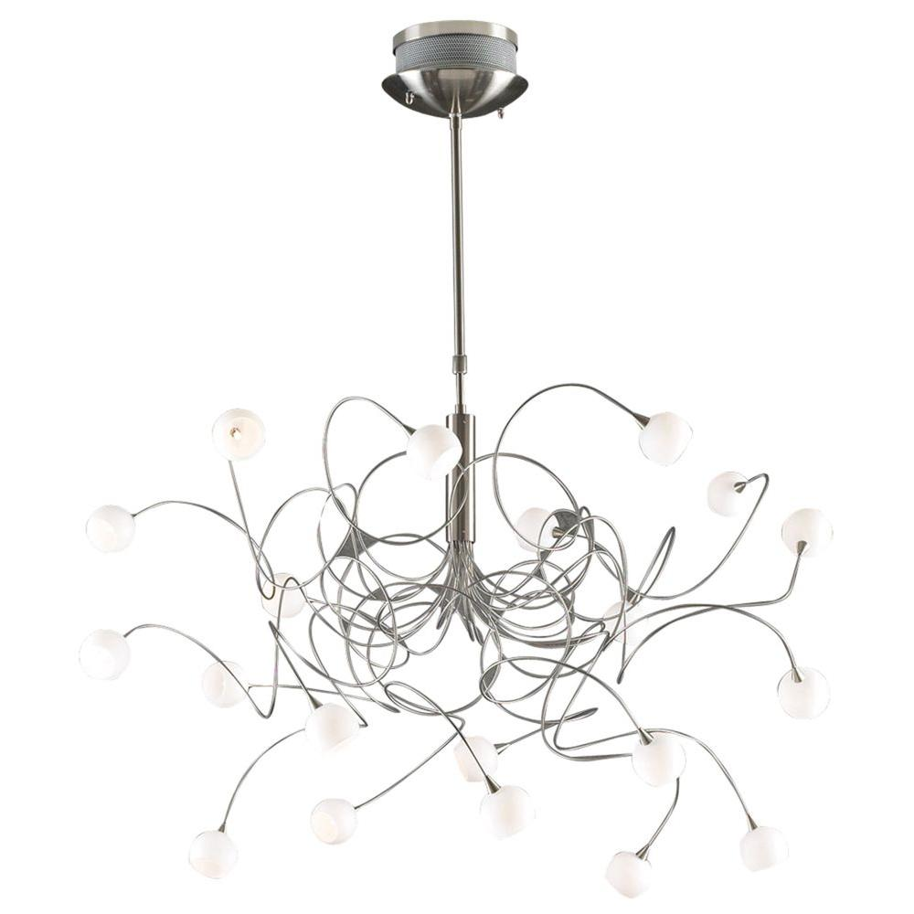 Illumine contemporary beauty 20 light satin nickel halogen illumine contemporary beauty 20 light satin nickel halogen chandelier arubaitofo Image collections