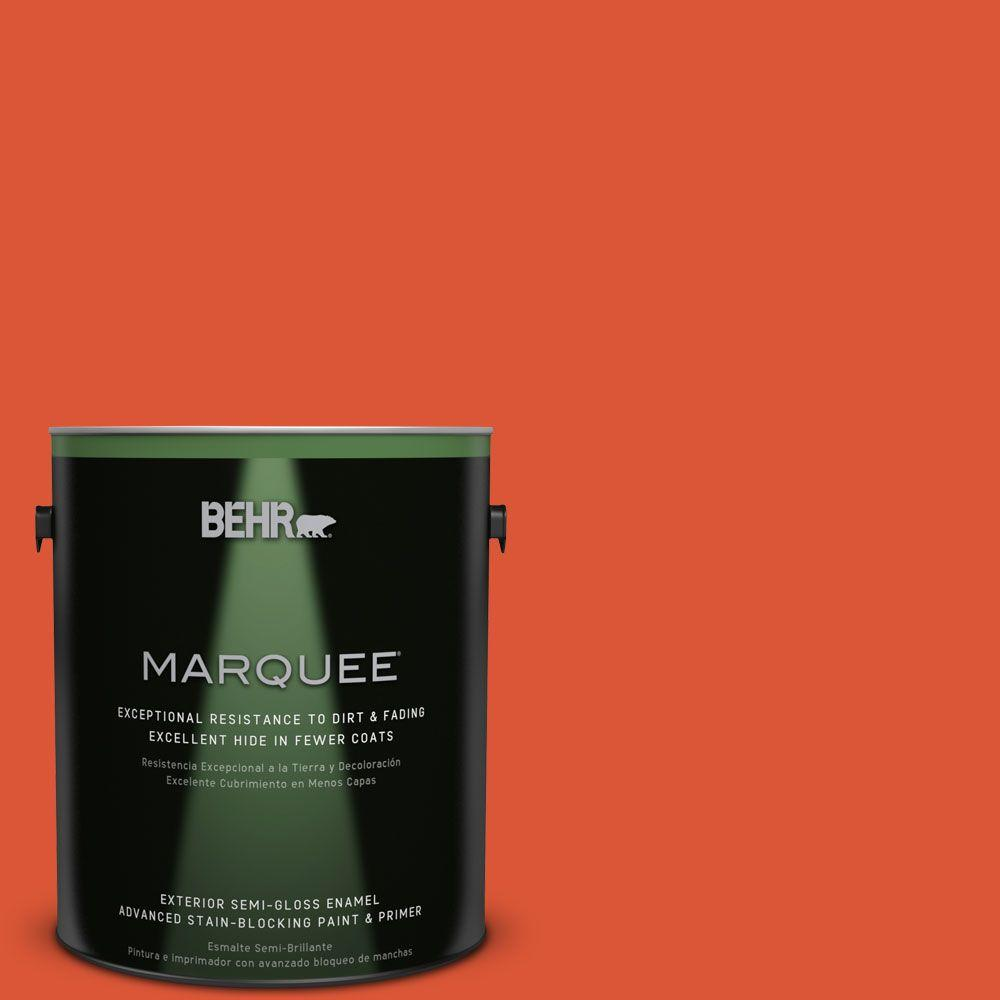 BEHR MARQUEE 1-gal. #P190-7 Inferno Semi-Gloss Enamel Exterior Paint