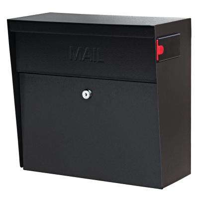 Metro Locking Wall Mount Mailbox With High Security Reinforced Patented System Black